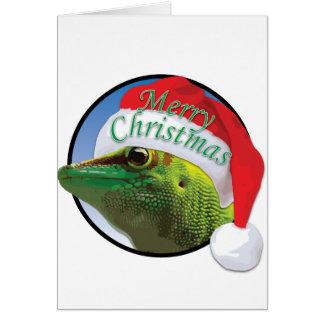 クリスマスのヤモリ-標準挨拶状 カード