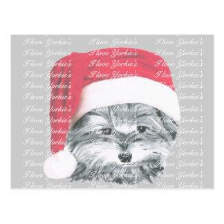 クリスマスのヨークシャーテリア犬の郵便はがき ポストカード