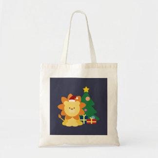クリスマスのライオン トートバッグ