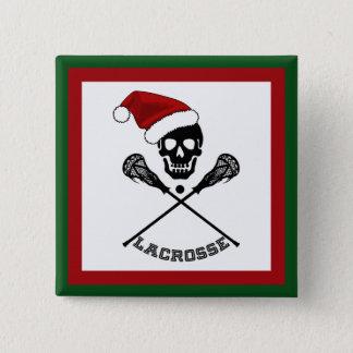 クリスマスのラクロス 5.1CM 正方形バッジ