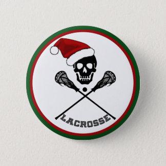 クリスマスのラクロス 5.7CM 丸型バッジ