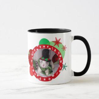 クリスマスのラットのマグ マグカップ