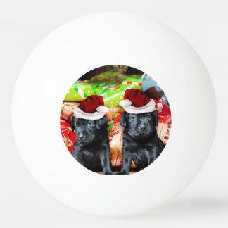 クリスマスのラブラドール犬 卓球 ボール