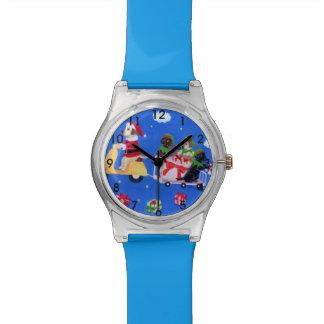 クリスマスのラブラドール配達絵画 腕時計