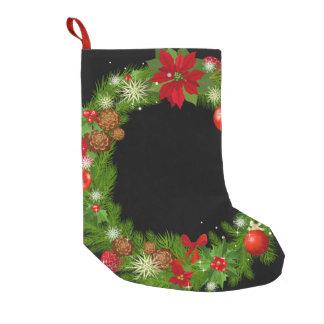 クリスマスのリースのクリスマスのストッキング スモールクリスマスストッキング