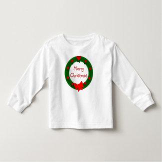 クリスマスのリースのワイシャツ トドラーTシャツ