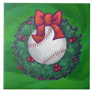 クリスマスのリースの野球 タイル