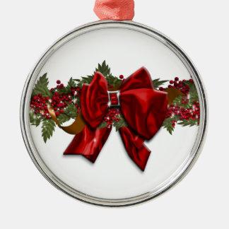 クリスマスのリース伝統的な12月7月 メタルオーナメント
