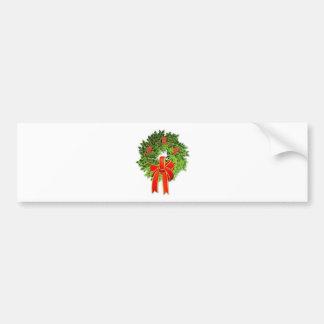 クリスマスのリース1 バンパーステッカー