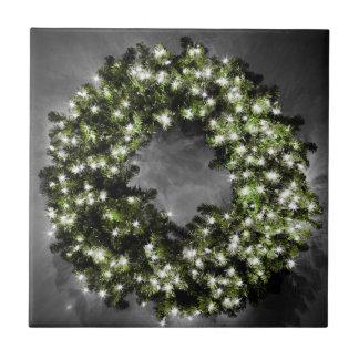 クリスマスのリース タイル