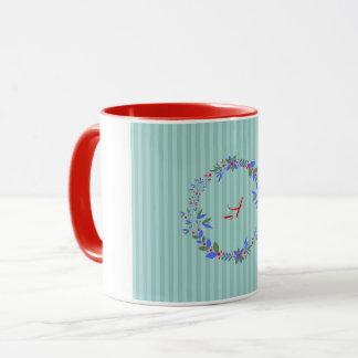 クリスマスのリース マグカップ
