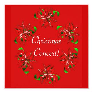 クリスマスのリース 13.3 スクエアインビテーションカード