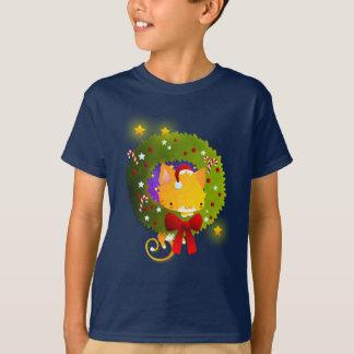 クリスマスのリース Tシャツ