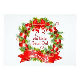 クリスマスのリース: Zorionakのeta Urte Berri! 、 カード