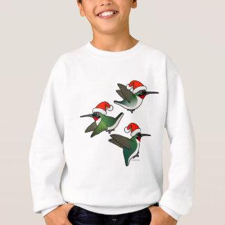 クリスマスのルビーthroatedハチドリ スウェットシャツ