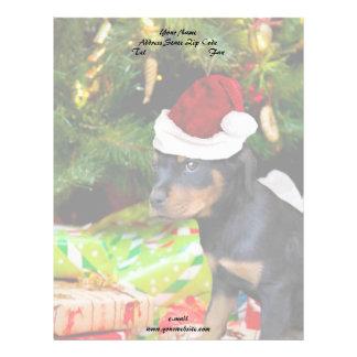 クリスマスのロットワイラーの子犬 レターヘッド