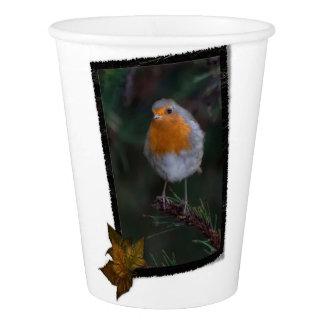 クリスマスのロビンのコップ 紙コップ