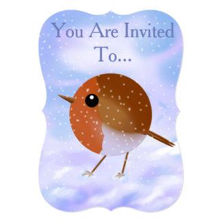 クリスマスのロビンの招待状カード カード