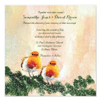 クリスマスのロビンカスタムの結婚式招待状 カード