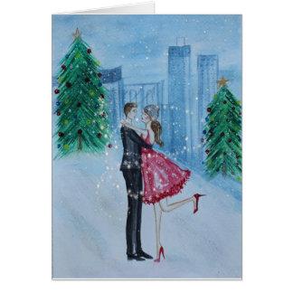 クリスマスのロマンス カード