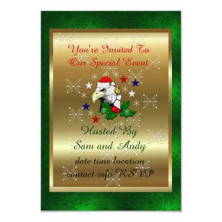 クリスマスのワシ カード
