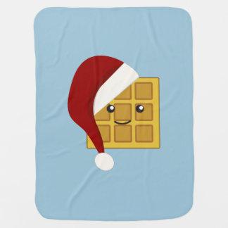 クリスマスのワッフル ベビー ブランケット