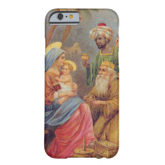 クリスマスのヴィンテージの出生のイエス・キリストの絵 BARELY THERE iPhone 6 ケース
