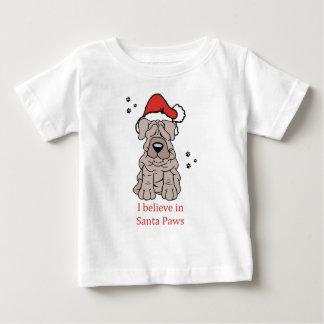 クリスマスの中国語Shar Pei ベビーTシャツ