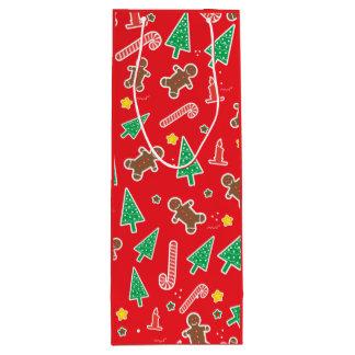 クリスマスの休日のお祝い ワインギフトバッグ