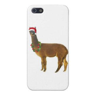 クリスマスの休日のアルパカ iPhone SE/5/5sケース