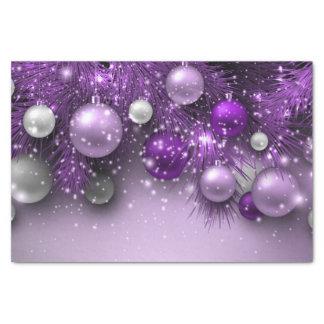 クリスマスの休日のオーナメント-紫色 薄葉紙
