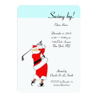 クリスマスの休日のオープンハウスの招待状 カード