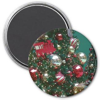 クリスマスの休日のトリム木のレトロの磁石 マグネット