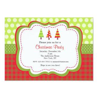 クリスマスの休日のパーティの招待状 12.7 X 17.8 インビテーションカード