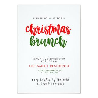 クリスマスの休日のブランチの招待状カード カード