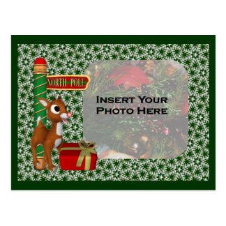 クリスマスの休日の写真の郵便はがき ポストカード