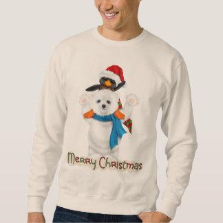 クリスマスの休日の友人メンズスエットシャツ スウェットシャツ