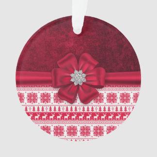 クリスマスの休日の弓宝石のオーナメント オーナメント