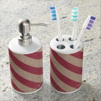 クリスマスの休日の浴室の石鹸の歯ブラシのホールダー バスセット
