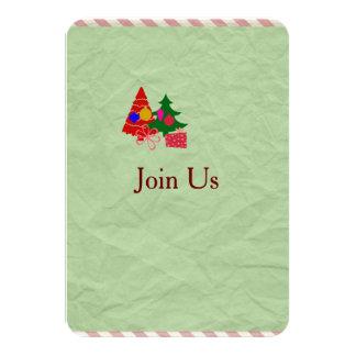 クリスマスの休日の集まりのパーティーの招待 カード