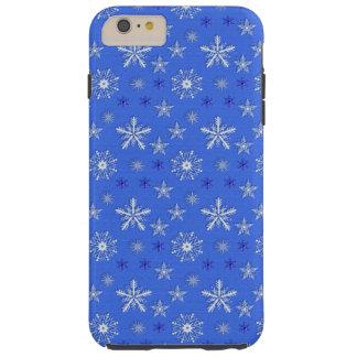 クリスマスの休日の青パターン TOUGH iPhone 6 PLUS ケース