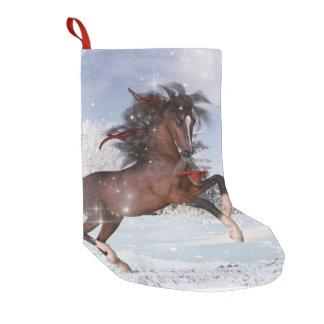 クリスマスの休日の馬のストッキング スモールクリスマスストッキング