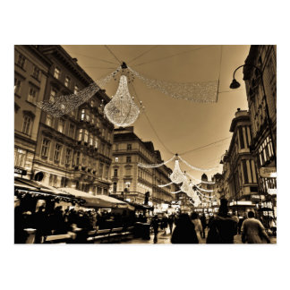 クリスマスの休日カードのウィーンの通り はがき