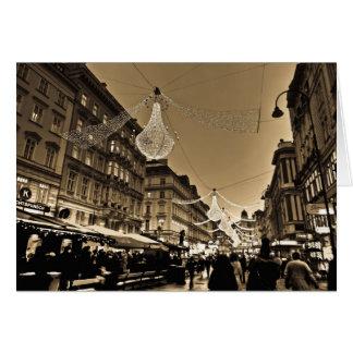 クリスマスの休日カードのウィーンの通り カード