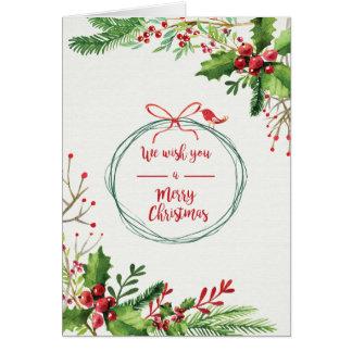 クリスマスの休日- WC Mistleのつま先 カード