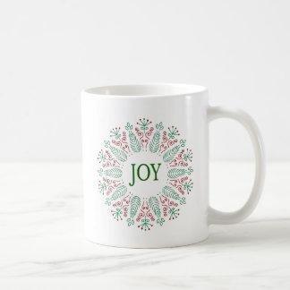 クリスマスの円形のデザインのMag コーヒーマグカップ