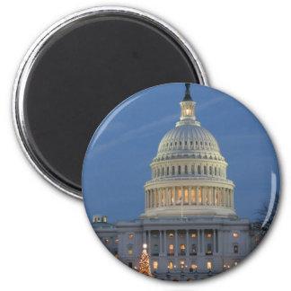 クリスマスの写真を祝う米国の国会議事堂 マグネット