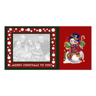 クリスマスの写真カード カード