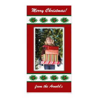 クリスマスの写真カード フォトカードテンプレート