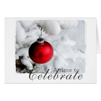 クリスマスの写真撮影 グリーティングカード